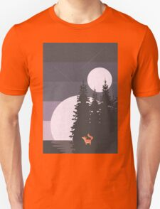 Two Moon Night Unisex T-Shirt