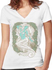Song of the Siren, Light Women's Fitted V-Neck T-Shirt