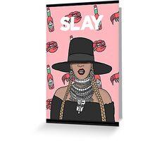 I SLAY BEYONCE PINK Greeting Card