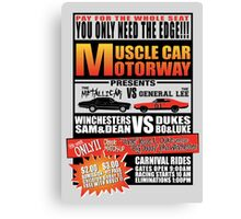 MuscleCar Motorway - Winchesters Vs Dukes Canvas Print