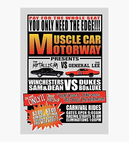 MuscleCar Motorway - Winchesters Vs Dukes Photographic Print