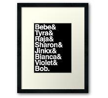 all winners. Framed Print