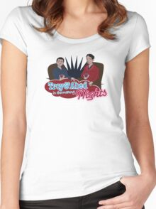 Troy and Abed in the Morning... NIGHTS! Women's Fitted Scoop T-Shirt