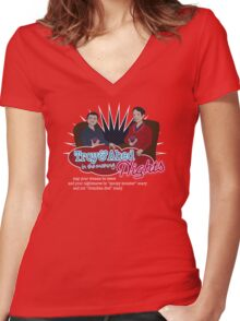 Troy and Abed in the Morning... NIGHTS! Women's Fitted V-Neck T-Shirt