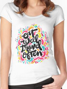 Eat & Travel Women's Fitted Scoop T-Shirt