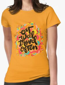 Eat & Travel Womens Fitted T-Shirt