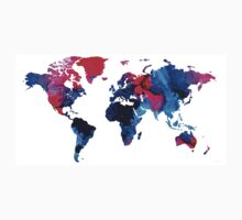 Map of The World 9 -Colorful Abstract Art Kids Tee