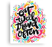 Eat & Travel Canvas Print