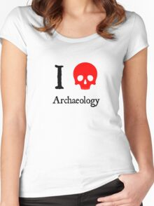 I Heart Archaeology Women's Fitted Scoop T-Shirt