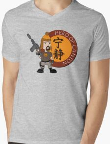 Hero of Canton Mens V-Neck T-Shirt