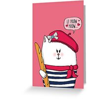 Michelle Le Meow Cat Greeting Card