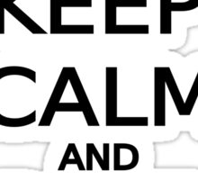 keep calm and ride on word art, text design Sticker