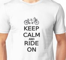 keep calm and ride on word art, text design Unisex T-Shirt