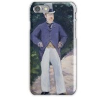 Edouard Manet - Portrait of Monsieur Brun 1879 , French Impressionism , Elegant Man, Portrait , Fashion iPhone Case/Skin
