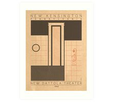 New Dattola Theater - 1942 (Orange) Art Print