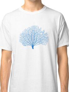 blue sea fan coral silhouette Classic T-Shirt