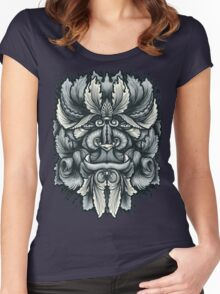 Filigree Leaves Forest Creature Beast Variant Women's Fitted Scoop T-Shirt