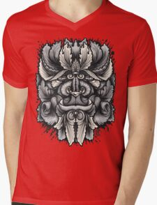 Filigree Leaves Forest Creature Beast Variant Mens V-Neck T-Shirt