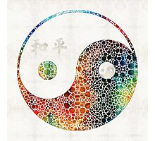 Yin And Yang - Colorful Peace - By Sharon Cummings Photographic Print
