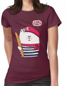 Michelle Le Meow Cat Womens Fitted T-Shirt