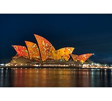 Opera House in the Colours of the Outback Photographic Print