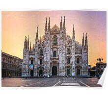 Il Duomo Milan Morning Poster
