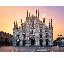Il Duomo Milan Morning Photographic Print
