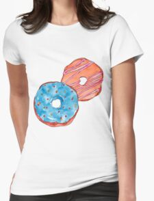 Donuts #FOOD  Womens Fitted T-Shirt