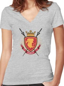 Camelot Jousting Team Women's Fitted V-Neck T-Shirt