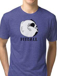 A Tiny Big Dog - Love for Pitballs.  Tri-blend T-Shirt