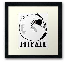 A Tiny Big Dog - Love for Pitballs.  Framed Print