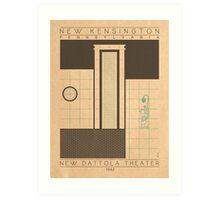 New Dattola Theater - 1942 (Green) Art Print