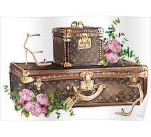 LV Luggage Poster