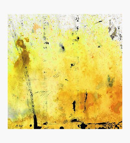 Yellow Abstract Art - Lemon Haze - By Sharon Cummings Photographic Print