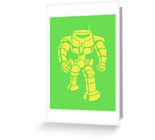 Manbot - Lime Variant Greeting Card