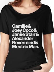 Prince Aliases Joey Coco & Jamie Starr Threads Women's Relaxed Fit T-Shirt