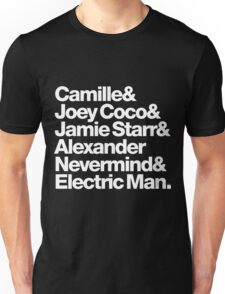 Prince Aliases Joey Coco & Jamie Starr Threads Unisex T-Shirt