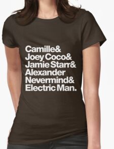 Prince Aliases Joey Coco & Jamie Starr Threads Womens Fitted T-Shirt