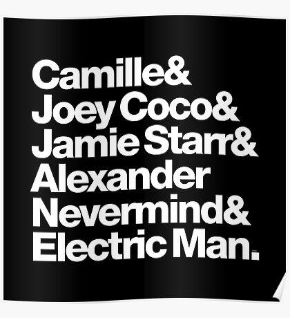 Prince Aliases Joey Coco & Jamie Starr Threads Poster