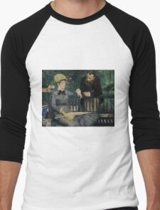 Edouard Manet - In the Conservatory 1878 - 1879 , French Impressionism  Men's Baseball ¾ T-Shirt