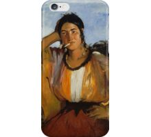 Edouard Manet - Gypsy with a Cigarette , French Impressionism , Woman , Fashion ,  Portrait iPhone Case/Skin