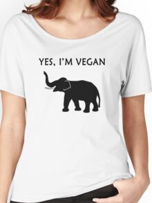 Yes, I'm vegan Women's Relaxed Fit T-Shirt