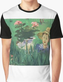Edouard Manet - Boy in Flowers Jacques Hoschede 1876 Graphic T-Shirt