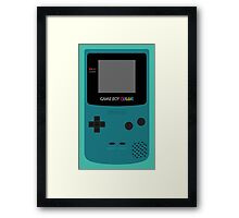 Game Boy Teal Framed Print
