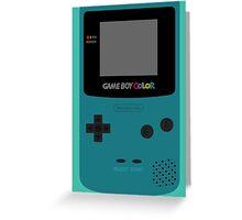 Game Boy Teal Greeting Card