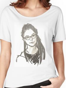 Drawing of Cosima Women's Relaxed Fit T-Shirt