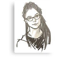 Drawing of Cosima Canvas Print