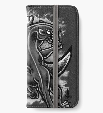 Black and White Moon Panther iPhone Wallet/Case/Skin