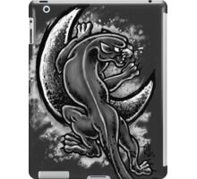 Black and White Moon Panther iPad Case/Skin