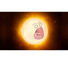 RICK AND MORTY SCREAMING SUN IN SPACE Photographic Print